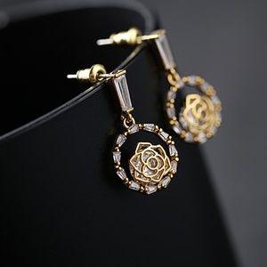 Rose Cubic Zirconia Earring